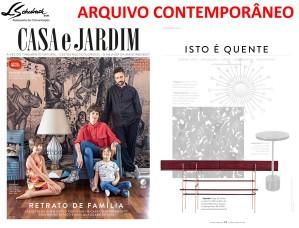 ARQUIVO CONTEMPORÂNEO na revista Casa e Jardim de fevereiro de 2018