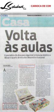 CARIOCA DE COR no caderno CASA, do jornal O DIA, em 04 de fevereiro de 2018
