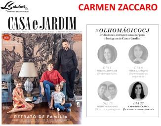 CARMEN ZACCARO na revista Casa e Jardim de fevereiro de 2018