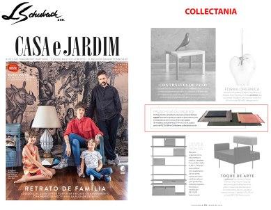 COLLECTANIA na revista CASA E JARDIM em fevereiro de 2018