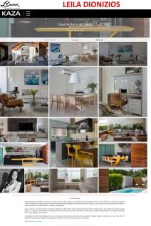 Projeto da arquiteta LEILA DIONIZIOS no site da revista KAZA em 28 de fevereiro de 2018