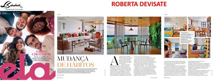 Projeto da designer de interiores ROBERTA DEVISATE na Revista Ela do jornal O Globo em 25 de fevereiro de 2018