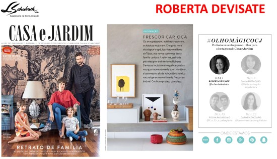 ROBERTA DEVISATE na revista Casa e Jardim de fevereiro de 2018