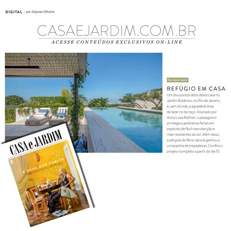 ANNA LUIZA ROTHIER na revista CASA E JARDIM de março de 2018