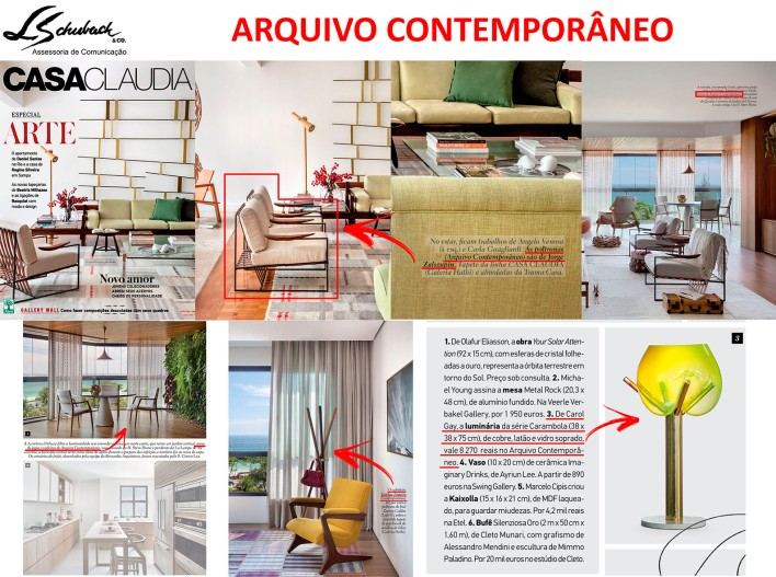 ARQUIVO CONTEMPORÂNEO na revista Casa Claudia de março de 2018