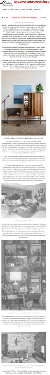 ARQUIVO CONTEMPORÂNEO no blog A Cor da Casa em 21 de março de 2018
