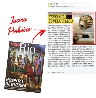 JACIRA PINHEIRO na revista VEJA RIO em 11 de março de 2018