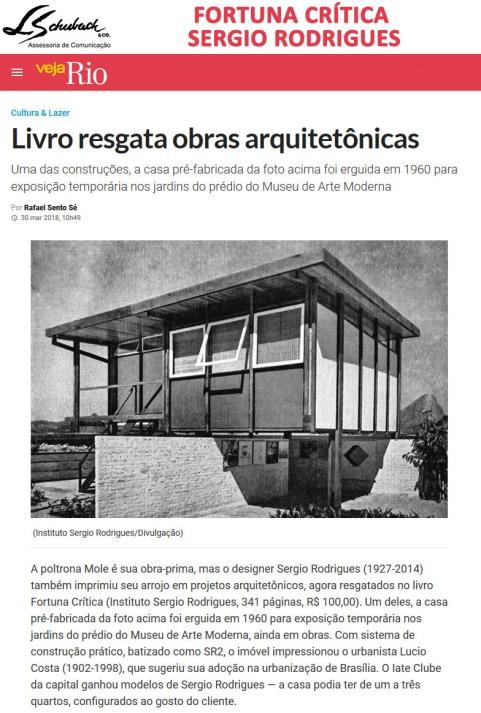 Livro SERGIO RODRIGUES - FORTUNA CRITICA no site da revista Veja Rio em 30 de março de 2018