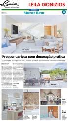 Projeto da arquiteta LEILA DIONIZIOS no caderno Morar Bem do jornal O Globo em 18 de março de 2018