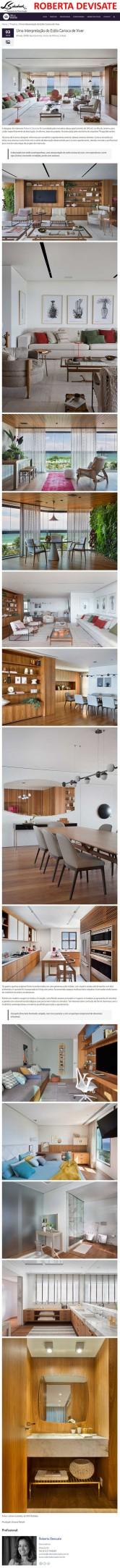 Projeto da designer de interiores ROBERTA DEVIATE no site Casa de Valentina em 7 de março de 2018
