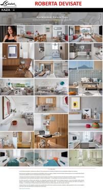 Projeto da designer de interiores ROBERTA DEVIATE no site da revista KAZA em 7 de março de 2018