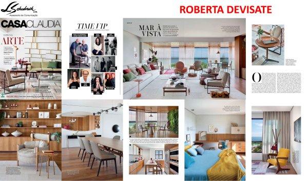 Projeto da designer de interiores ROBERTA DEVISATE na revista Casa Claudia de março de 2018
