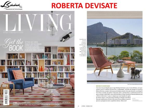 Projeto da designer de interiores ROBERTA DEVISATE na revista Living de março de 2018