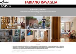 Projeto do arquiteto FABIANO RAVAGLIA no site da revista KAZA em 26 de março de 2018