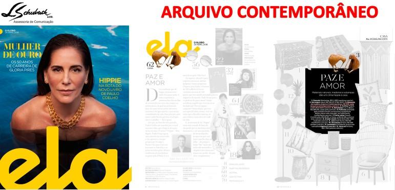 ARQUIVO CONTEMPORÂNEO na Revista Ela do jornal O Globo em 29 de abril de 2018