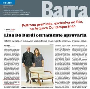 ARQUIVO CONTEMPORÂNEO no GLOBO BARRA de 8 de abril de 2018