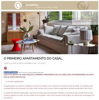 BIANCA DA HORA no site AS ARQUITETAS em 13 de abril de 2018 - insta