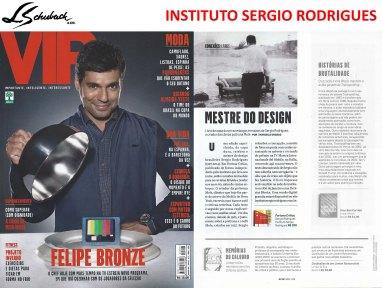 FORTUNA CRITICA - SERGIO RODRIGUES na revista VIP de abril de 2018