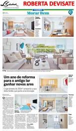 Projeto da designer de interiores ROBERTA DEVISATE no caderno Morar Bem do jornal O Globo em 29 de abril de 2018