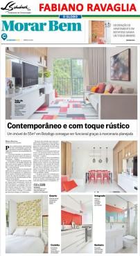 Projeto do arquiteto FABIANO RAVAGLIA no caderno Morar Bem do Jornal O Globo em 22 de abril de 2018
