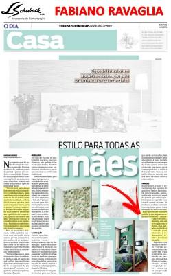 Arquiteto FABIANO RAVAGLIA no caderno Casa do jornal O Dia em 6 de maio de 2018_2