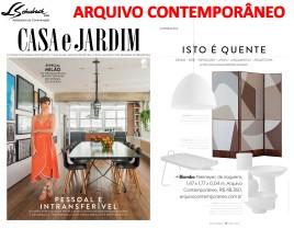 ARQUIVO CONTEMPORÂNEO na revista Casa e Jardim de maio de 2018