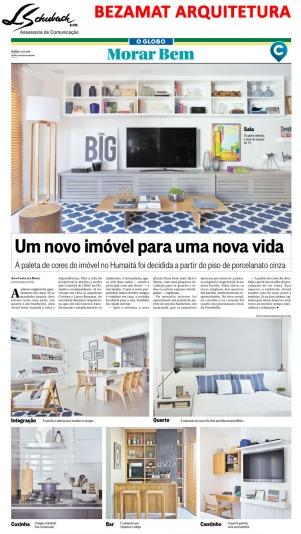 BEZAMAT ARQUITETURA no caderno Morar Bem do jornal O Globo em 20 de maio de 2018