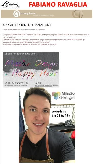 FABIANO RAVAGLIA no site As Arquitetas em 23 de maio de 2018