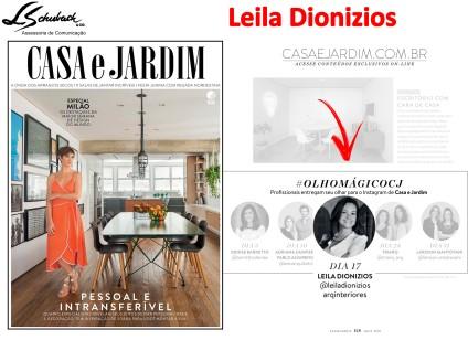 LEILA DIONIZIOS na revista Casa e Jardim de maio de 2018_facebook