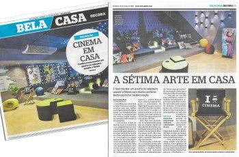 MORAR MAIS POR MENOS no caderno BELA CASA, do jornal EXTRA, em 20 de maio de 2018 - 2