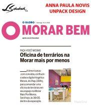 ANNA PAULA NOVIS no caderno MORAR BEM, do JORNAL O GLOBO, em 19 de agosto de 2018