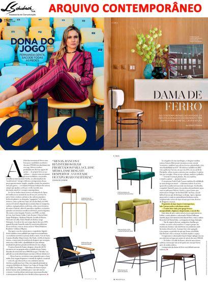 ARQUIVO CONTEMPORÂNEO na revisa Ela do jornal O Globo em 3 de junho de 2018