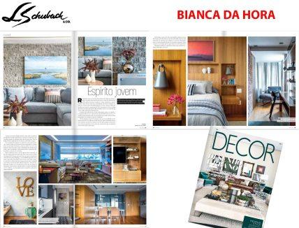 BIANCA DA HORA na revista DECOR de agosto de 2018
