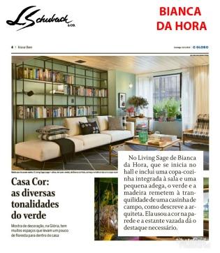 BIANCA DA HORA no caderno MORAR BEM, do jornal O Globo, em 23 de setembro de2018