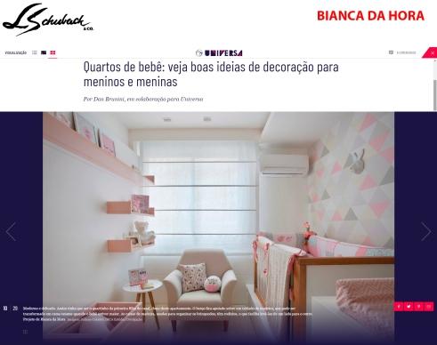 BIANCA DA HORA no site UOL UNIVERSA, em 27 de julho de 2018