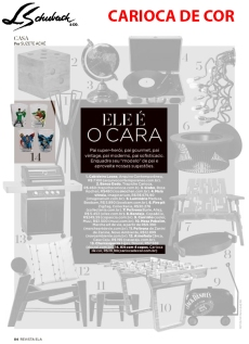 CARIOCA DE COR na REVISTA ELA, do JORNAL O GLOBO, de 5 de agosto de 2018