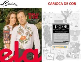 CARIOCA DE COR na REVISTA ELA, do jornal O GLOBO, em 10 de junho de 2018