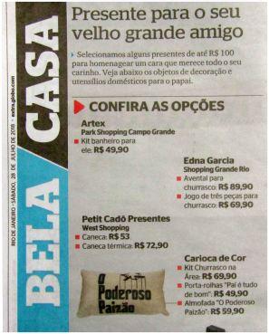 CARIOCA DE COR no caderno BELA CASA do jornal EXTRA de 30 de agosto de 2018