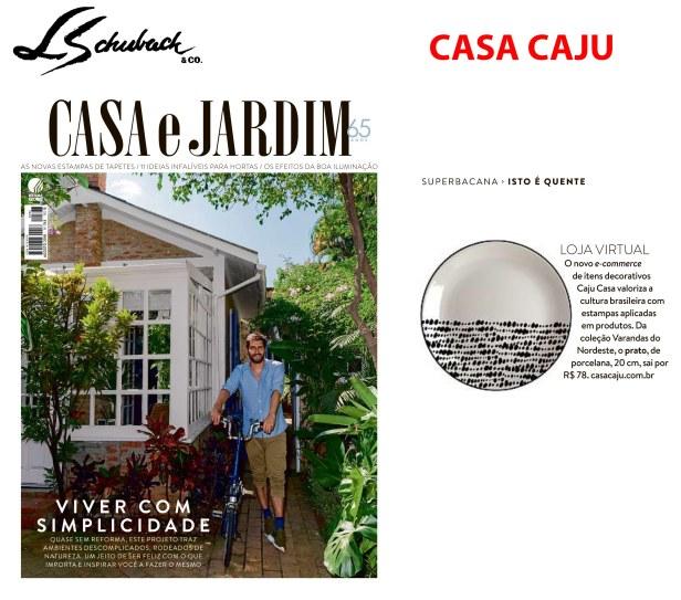 CASA CAJU na revista CASA E JARDIM de agosto de 2018