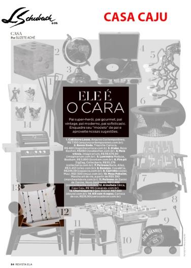 CASA CAJU na REVISTA ELA, do JORNAL O GLOBO, de 5 de agosto de 2018