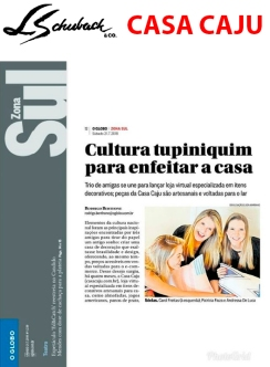 CASA CAJU no caderno GLOBO ZONA SUL, do jornal O GLOBO, em 21 de julho de 2018