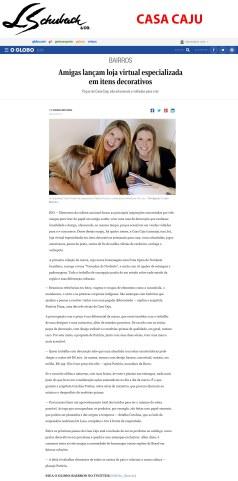 CASA CAJU no site do jornal O Globo em 24 de julho de 2018