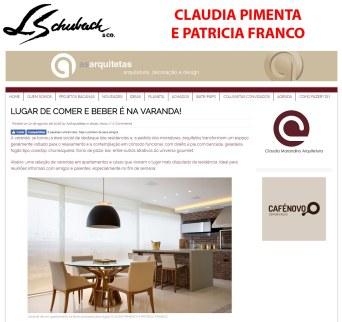 CLAUDIA PIMENTA E PATRICIA FRANCO no site AS ARQUITETAS em 31 de agosto de 2018