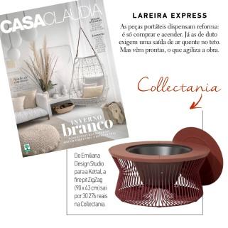 COLLECTANIA na revista CASA CLAUDIA em julho de 2018 - firepit - insta