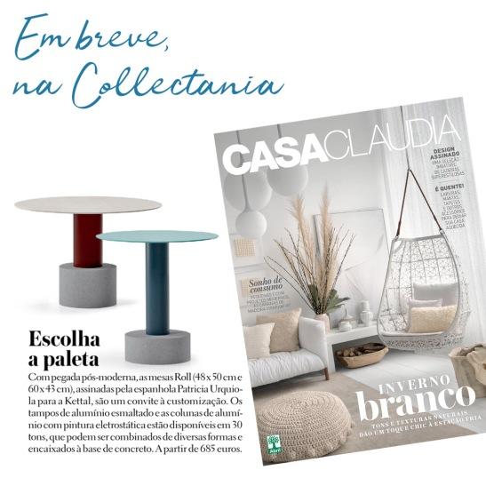 COLLECTANIA na revista CASA CLAUDIA em julho de 2018 - roll - insta