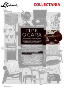 COLLECTANIA na REVISTA ELA, do JORNAL O GLOBO, de 5 de agosto de 2018