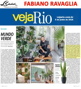 Depoimento do arquiteto FABIANO RAVAGLIA na revista Veja Rio de 6 de junho de 2018