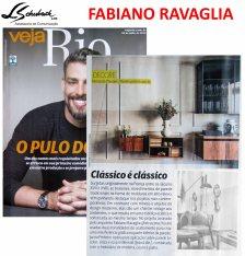FABIANO RAVAGLIA na revista VEJA RIO de 15 de julho de 2018