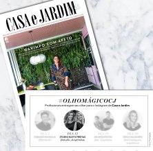 GABRIELA ELOY E CAROLINA FREITAS na revista CASA E JARDIM em julho de 2018