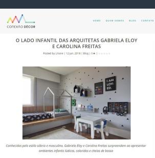 GABRIELA ELOY E CAROLINA FREITAS no site CONEXÃO DECOR em 12 de junho de 2018 - insta